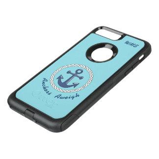 Coque OtterBox Commuter iPhone 8 Plus/7 Plus Décoré d'un monogramme Aweigh d'ancres