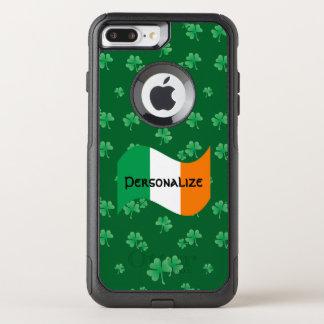 Coque OtterBox Commuter iPhone 8 Plus/7 Plus Drapeau irlandais avec des shamrocks