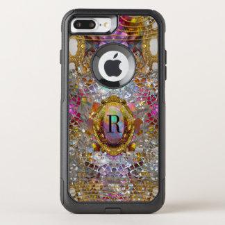 Coque OtterBox Commuter iPhone 8 Plus/7 Plus Monogramme protecteur Sev de kaléidoscope frais de