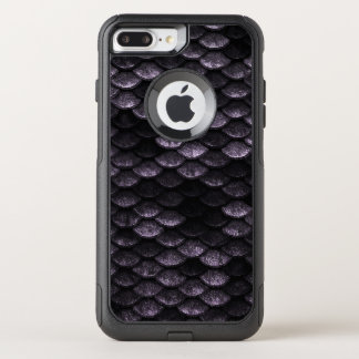 Coque OtterBox Commuter iPhone 8 Plus/7 Plus Nuances de Deep Purple de motif d'échelles de