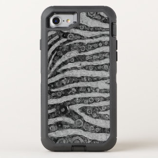 Coque OtterBox Defender iPhone 8/7 Abrégé sur zèbre de Black&White