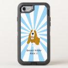 Coque OtterBox Defender iPhone 8/7 Basset Hound sur le starburst blanc