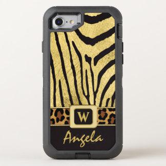 Coque OtterBox Defender iPhone 8/7 copies barrées d'animal sauvage de l'iPhone 6/6s |