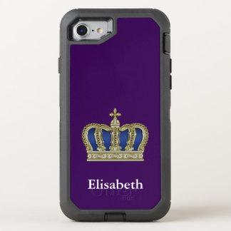 Coque OtterBox Defender iPhone 8/7 Couronne royale d'or V + votre backgr. et idées