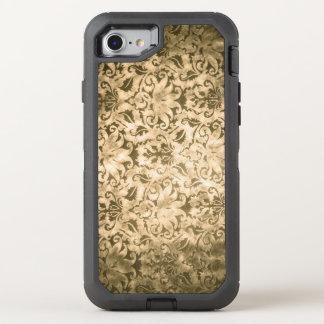 Coque OtterBox Defender iPhone 8/7 Damassé d'or