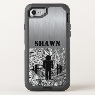Coque OtterBox Defender iPhone 8/7 Homme argenté avec le téléphone de gymnase