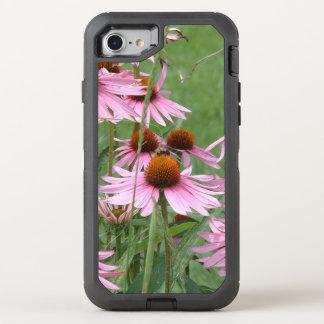 Coque OtterBox Defender iPhone 8/7 Jardin pourpre de Coneflower avec des abeilles