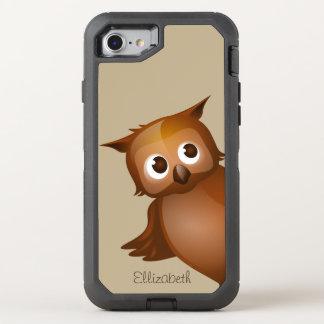 Coque OtterBox Defender iPhone 8/7 Monogramme drôle nommé fait sur commande mignon