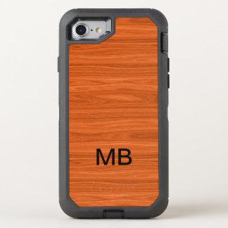 Coque OtterBox Defender iPhone 8/7 Monogramme en bois de regard