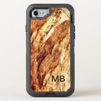 Coque OtterBox Defender iPhone 8/7 Monogramme en pierre du regard des hommes