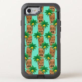 Coque OtterBox Defender iPhone 8/7 Motif hawaïen de répétition de Tiki