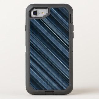 Coque OtterBox Defender iPhone 8/7 Motif rustique des rayures des hommes bleus et