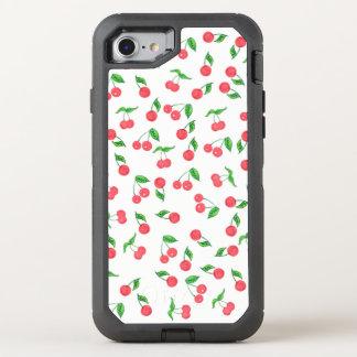 Coque OtterBox Defender iPhone 8/7 motif tiré par la main mignon de cerise