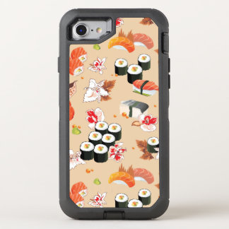 Coque OtterBox Defender iPhone 8/7 Nourriture japonaise : Motif 3 de sushi