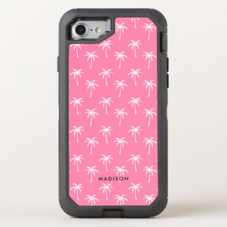 Coque OtterBox Defender iPhone 8/7 Palmiers roses mignons