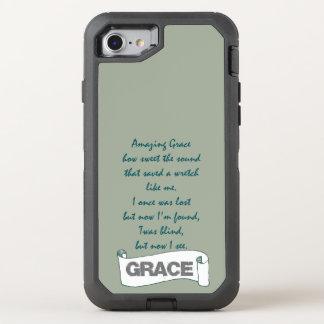 Coque OtterBox Defender iPhone 8/7 Textes extraordinaires d'hymne de grâce