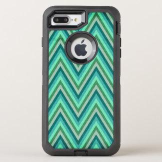 Coque OtterBox Defender iPhone 8 Plus/7 Plus Arrière - plan rayé de zigzag