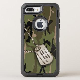 Coque OtterBox Defender iPhone 8 Plus/7 Plus Camo vert militaire avec l'étiquette de chien