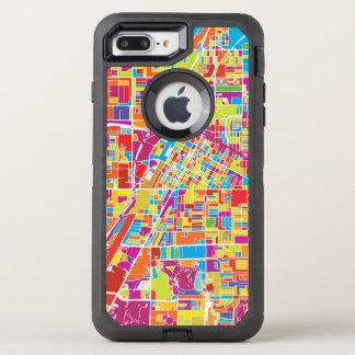 Coque OtterBox Defender iPhone 8 Plus/7 Plus Carte de Las Vegas coloré, Nevada