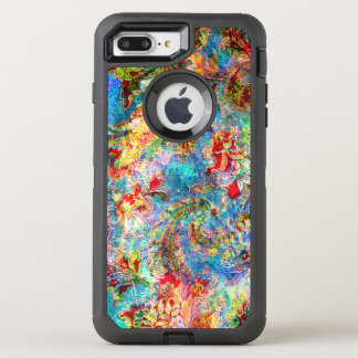 Coque OtterBox Defender iPhone 8 Plus/7 Plus Collage floral vintage sale romantique coloré