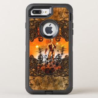 Coque OtterBox Defender iPhone 8 Plus/7 Plus Fée merveilleuse dans un cadre avec des roses