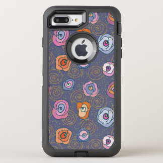 Coque OtterBox Defender iPhone 8 Plus/7 Plus Motif rose de champ de résumé