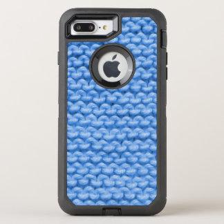 Coque OtterBox Defender iPhone 8 Plus/7 Plus Point de jarretière bleu de Knit