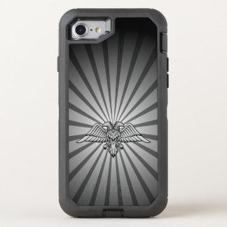 Coque Otterbox Defender Pour iPhone 7 Aigle gris avec deux têtes