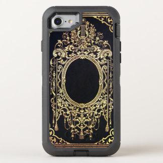 Coque Otterbox Defender Pour iPhone 7 Cadre fleuri d'or de Falln (perfectionnez pour un