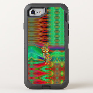 Coque Otterbox Defender Pour iPhone 7 Hibou tropical de la Reine de mode