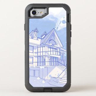 Coque Otterbox Defender Pour iPhone 7 maison : aspiration d'aquarelle
