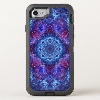 Coque Otterbox Defender Pour iPhone 7 Mandala de bleu de Shiva