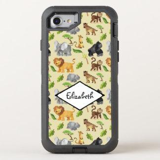 Coque Otterbox Defender Pour iPhone 7 Motif de jungle de safari d'animal sauvage