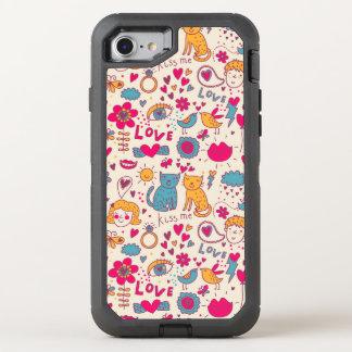 Coque Otterbox Defender Pour iPhone 7 Motif romantique coloré