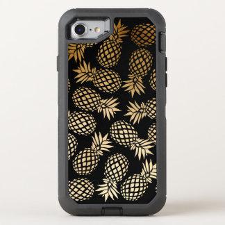 Coque Otterbox Defender Pour iPhone 7 motif tropical d'ananas d'or élégant de faux