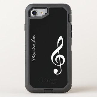 Coque Otterbox Defender Pour iPhone 7 note noire de musique