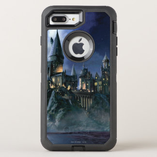 Coque Otterbox Defender Pour iPhone 7 Plus Château | Hogwarts éclairé par la lune de Harry