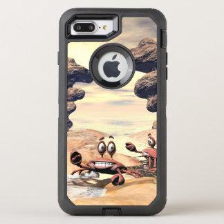 Coque Otterbox Defender Pour iPhone 7 Plus Crabe drôle sur une petite île