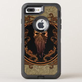 Coque Otterbox Defender Pour iPhone 7 Plus Crâne impressionnant sur un cadre