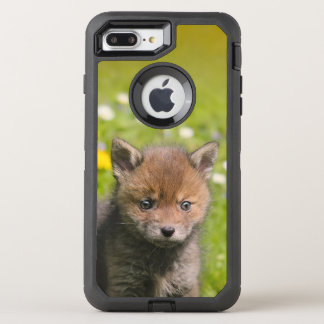 Coque Otterbox Defender Pour iPhone 7 Plus La photo animale de bébé sauvage mignon de Fox