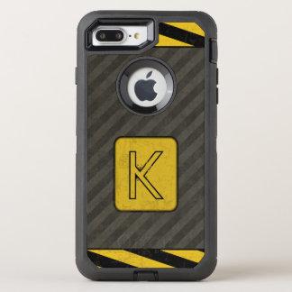 Coque Otterbox Defender Pour iPhone 7 Plus Monogramme grunge industriel