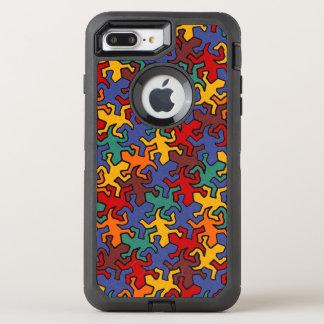 Coque Otterbox Defender Pour iPhone 7 Plus Motif de Geckos de miroir de mosaïque - la terre