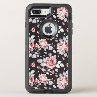 Coque Otterbox Defender Pour iPhone 7 Plus Motif floral rose vintage