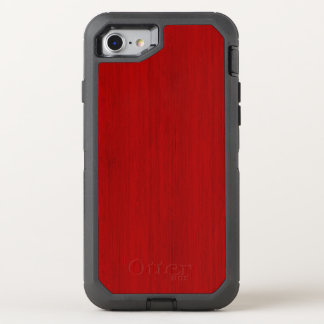 Coque Otterbox Defender Pour iPhone 7 Regard du bois en bambou rouge marron de grain
