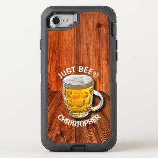 Coque Otterbox Defender Pour iPhone 7 Tasse de bière en verre de pinte avec la tête