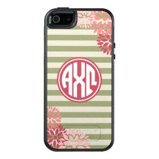 Coque OtterBox iPhone 5, 5s Et SE Alpha motif de rayure de monogramme d'Omega | de