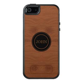 Coque OtterBox iPhone 5, 5s Et SE Bois d'acajou décoré d'un monogramme