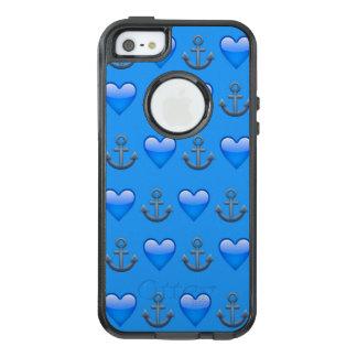 Coque OtterBox iPhone 5, 5s Et SE Caisse bleue de l'iPhone SE/5/5s Otterbox d'Emoji