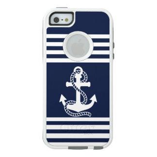 Coque OtterBox iPhone 5, 5s Et SE iPhone bleu blanc nautique SE/5/5s d'OtterBox