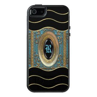 Coque OtterBox iPhone 5, 5s Et SE Monogramme Girly victorien du Bleu V de Hillgate